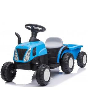 Elektrický traktor s vlečkou T37 modrý